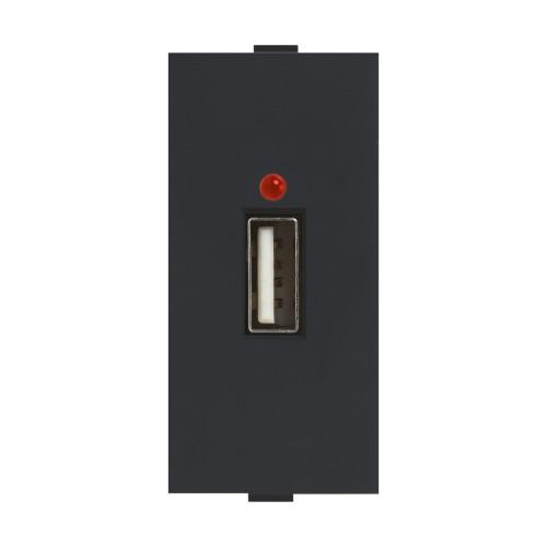 USB charger - 2.1A, 1M, 1Port (Black)