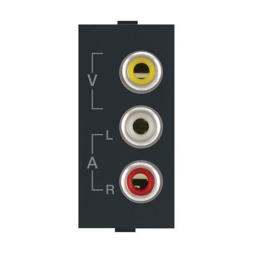 Audio Video Socket, Black