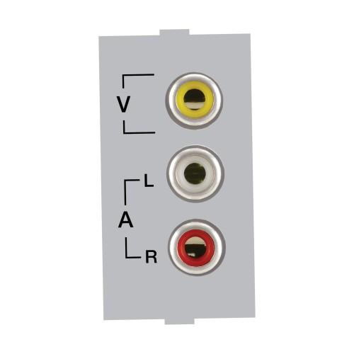 Audio Video Socket, Silver