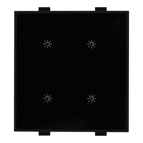 Roma Classic, 4 Touch Switch,1Way, 400W, 2M, Black