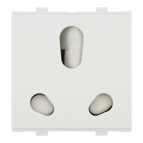 6A/16A - Twin Socket (ISI), White