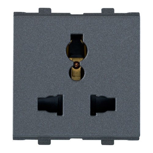 6/10/13A, Combi Socket For All Pins, 2Module