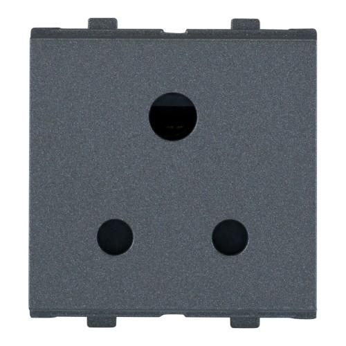 6A, 3Pin Socket, (ISI), 2Module
