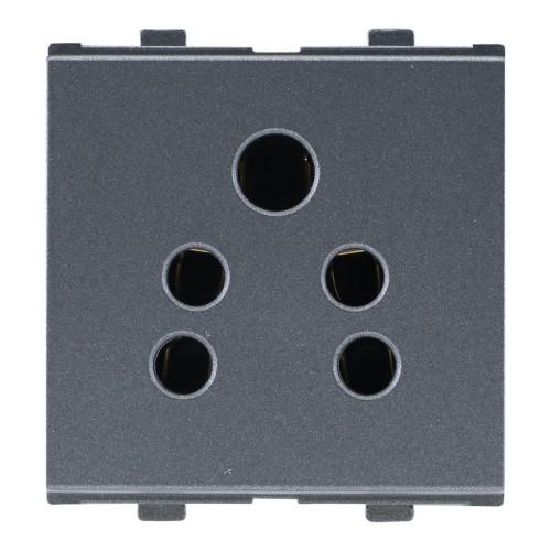 6A, 2in1 Socket ( w/o Shutter ), 2Module
