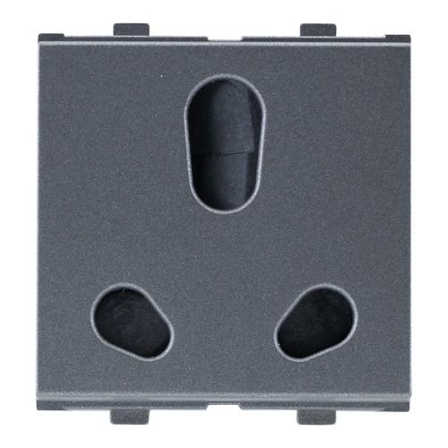 6A/16A - Twin Socket (ISI), Black