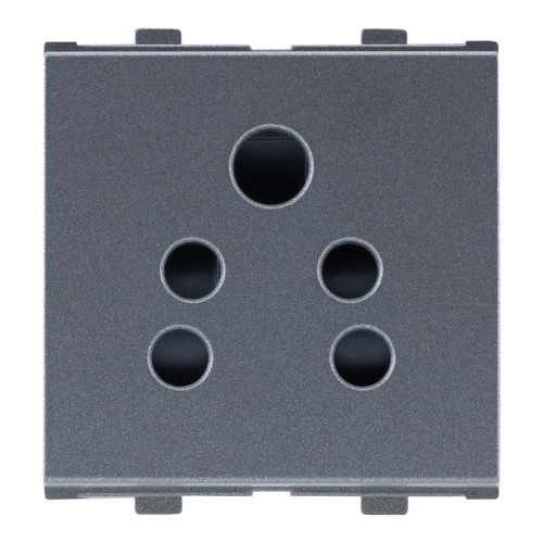 6A, 2in1 Socket ( with Shutter ), 2Module