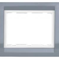 Tresa Plate with Frame (Azul Gray)