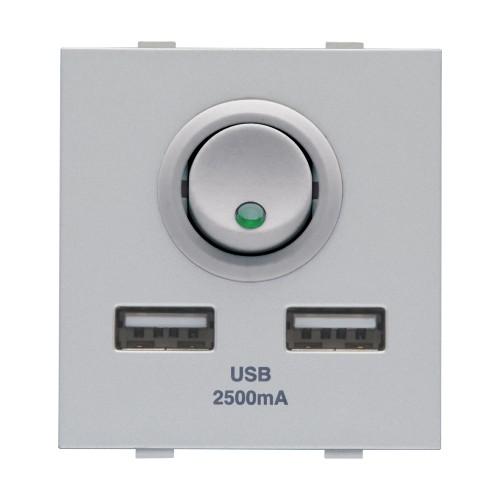 USB charger - 2.1A, 1M, 1Port (Silver)