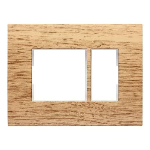 1 Module Plate, (Golden Pecan)