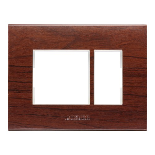 1 Module Plate, (Chocolate Hardwood)